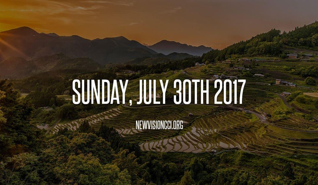Sunday, July 30th 2017