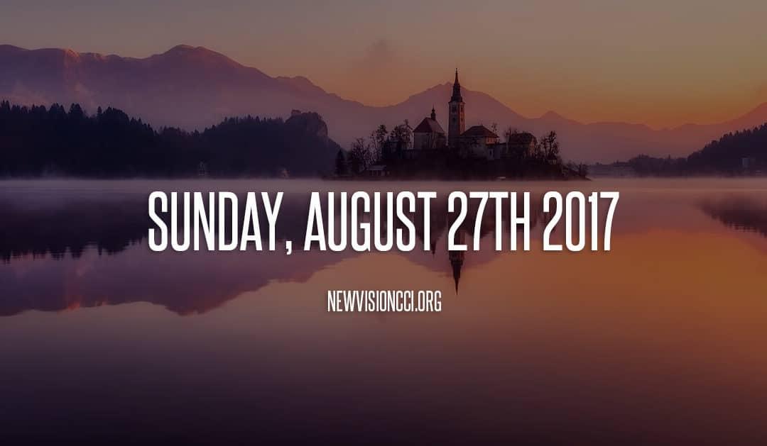 Sunday, August 27th 2017