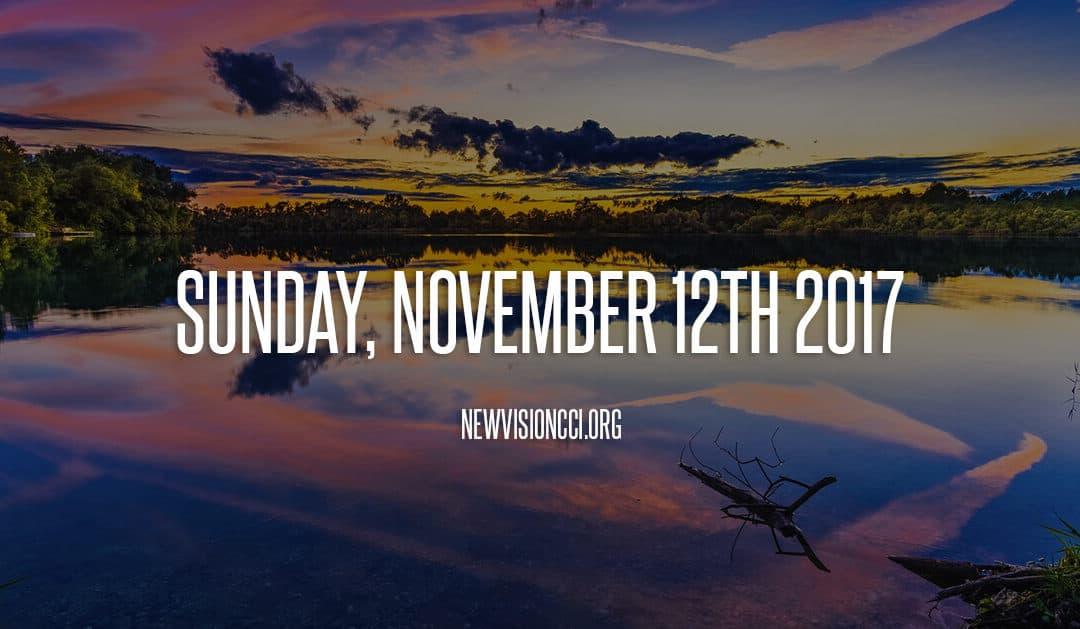 Sunday, November 12th 2017