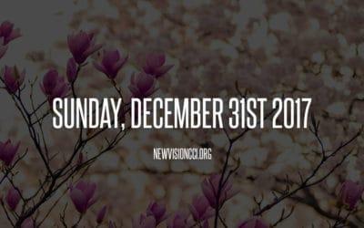 Sunday, December 31st 2017