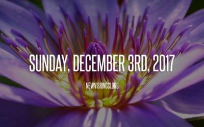 Sunday, December 3rd, 2017