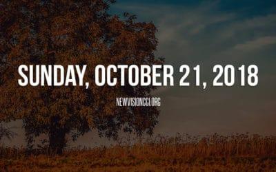 Sunday, October 21, 2018