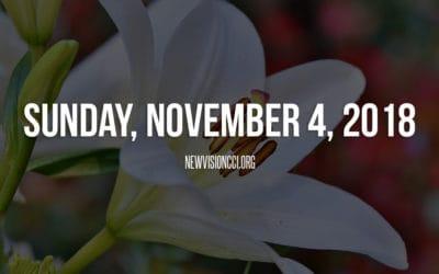 Sunday, November 4th 2018