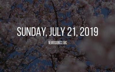 Sunday, July 21, 2019