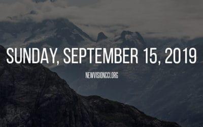 Sunday, September 15,  2019