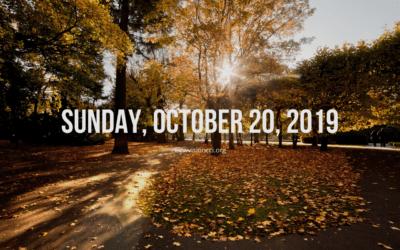 Sunday, October 20, 2019
