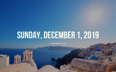 Sunday, December 1, 2019