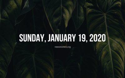 Sunday, January 19, 2020