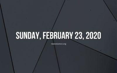 Sunday, February 23, 2020