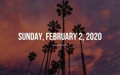 Sunday, February 2, 2020